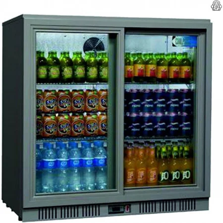 Coolpoint HX Range HX-250 Grey Double Door Back Bar Chiller