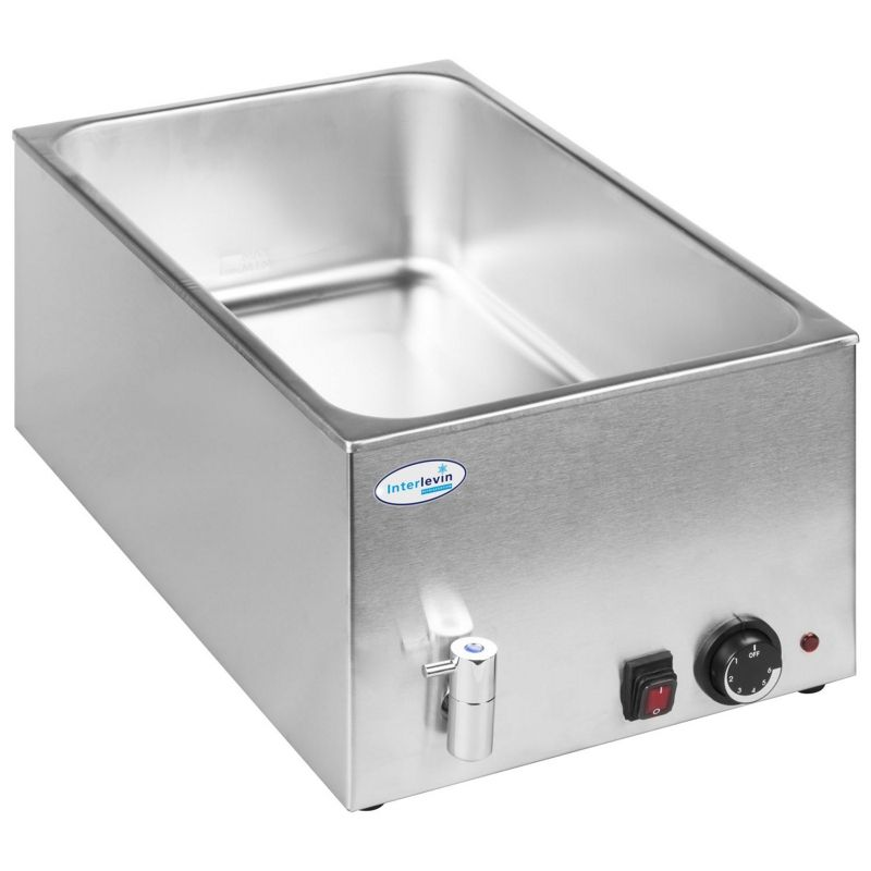 Interlevin BM8710 Bain Marie with Tap (without Pans) £