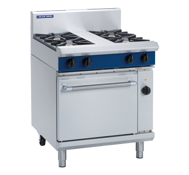 Blue Seal Evolution GE54D 4 Burner Range with Electric Oven
