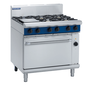Blue Seal Evolution GE56D 6 Burner Range with Electric Oven