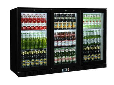 Coolpoint HX-301 Black Triple Door Bottle Cooler