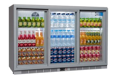 Coolpoint HX-350 Grey Triple Door Bottle Cooler