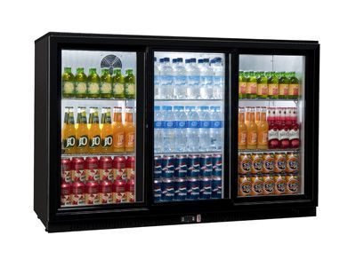 Coolpoint HX-351 Black Triple Door Bottle Cooler