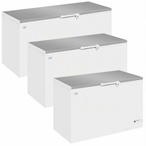 Interlevin LHF460SS Solid Lid Chest Freezer