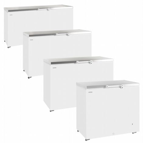 Tefcold GM400SS Solid Lid Chest Freezer